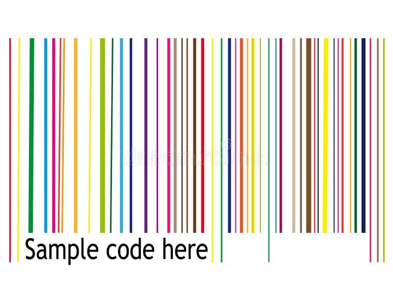 减速火箭的条形码 库存例证