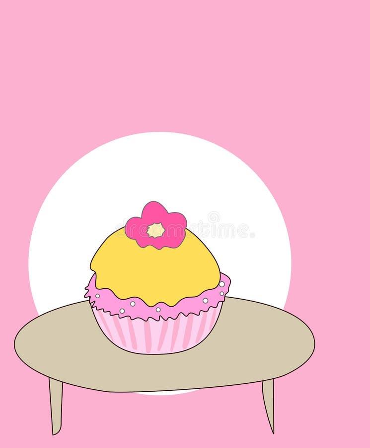 减速火箭的杯形蛋糕 向量例证