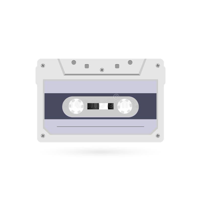 减速火箭的样式磁性录声磁带 20世纪80年代葡萄酒册页音乐存贮设备 老录音磁带卡式磁带 库存例证