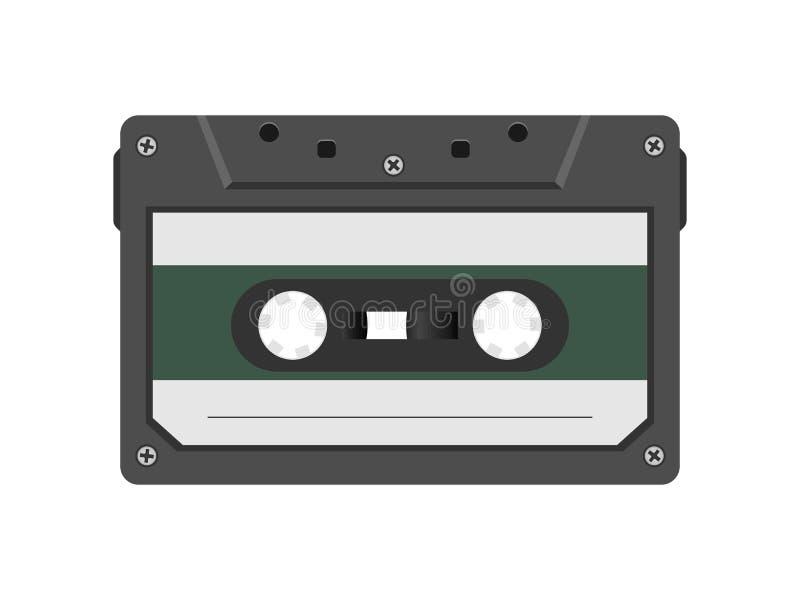 减速火箭的样式磁性录声磁带 20世纪80年代葡萄酒册页音乐存贮设备 老录音磁带卡式磁带 皇族释放例证