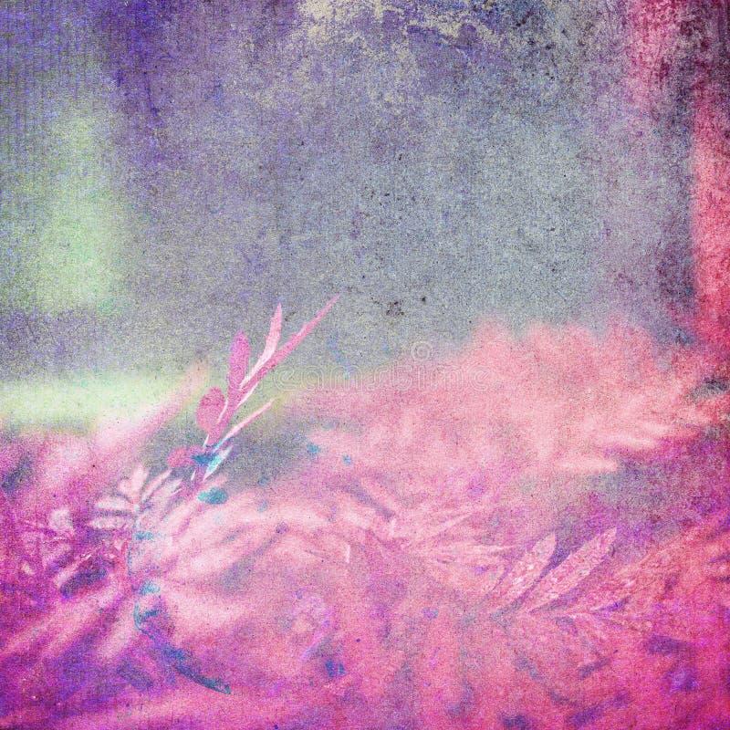 减速火箭的桃红色留下背景 库存照片