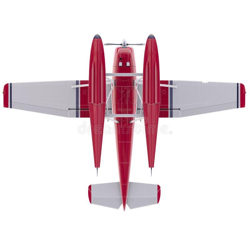 减速火箭的水上飞机例证 3d回报 库存例证