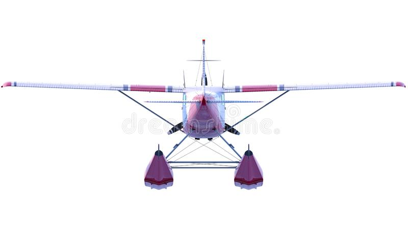 减速火箭的水上飞机例证 3d回报 皇族释放例证
