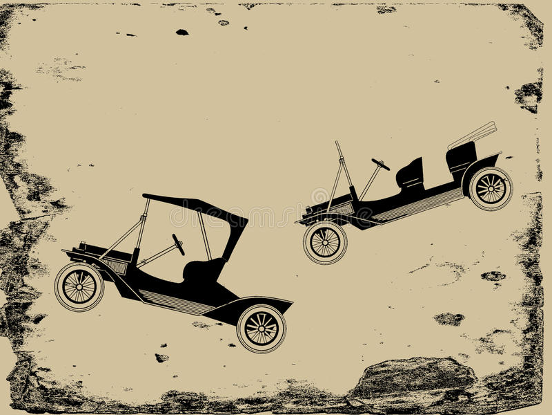 减速火箭的汽车 皇族释放例证