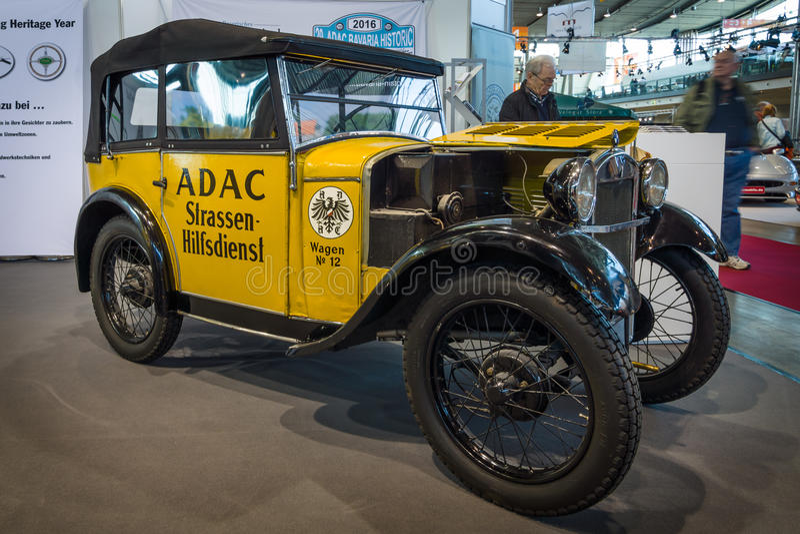 减速火箭的汽车BMW由ADAC (一般德国汽车俱乐部的) 3/15 PS DA2 (Dixi), 1929年 库存图片