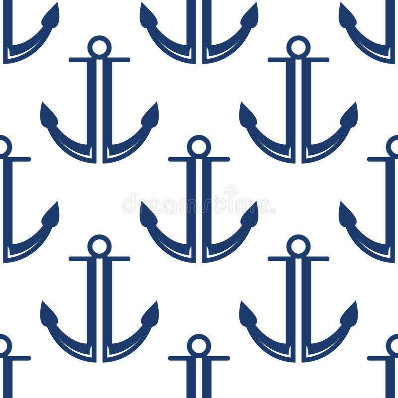 减速火箭的海洋蓝色停住无缝的样式 向量例证