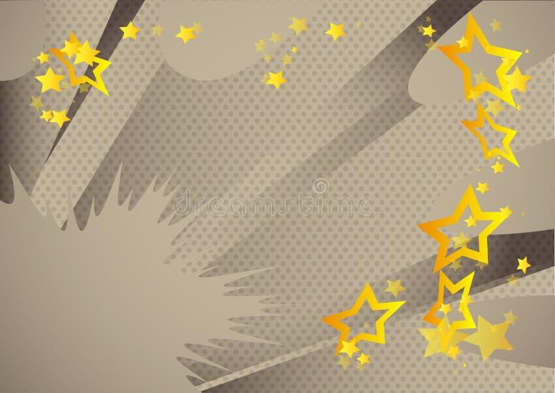 减速火箭的漫画书背景 流行艺术葡萄酒从角落的样式爆炸 向量例证