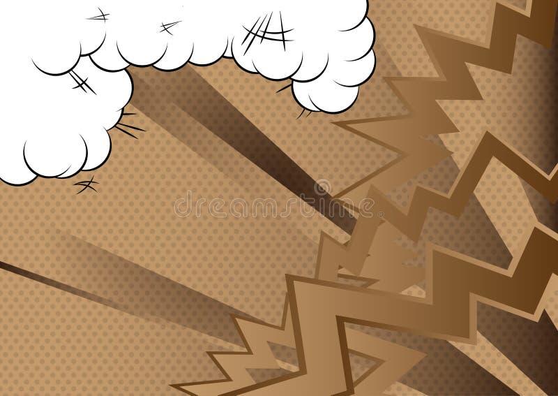 减速火箭的漫画书背景 流行艺术葡萄酒从角落的样式爆炸 库存例证