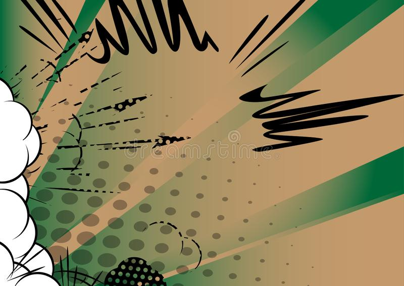 减速火箭的漫画书背景 流行艺术葡萄酒从角落的样式爆炸 皇族释放例证