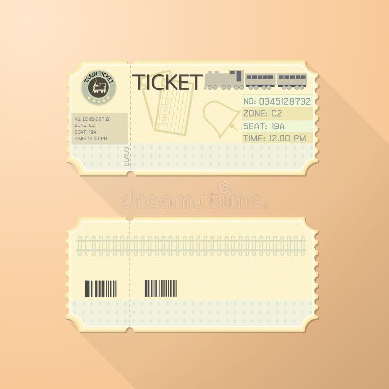 减速火箭的火车票卡片经典设计 库存例证