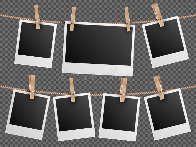 减速火箭的照片构筑垂悬在绳索方格的透明背景传染媒介例证 皇族释放例证