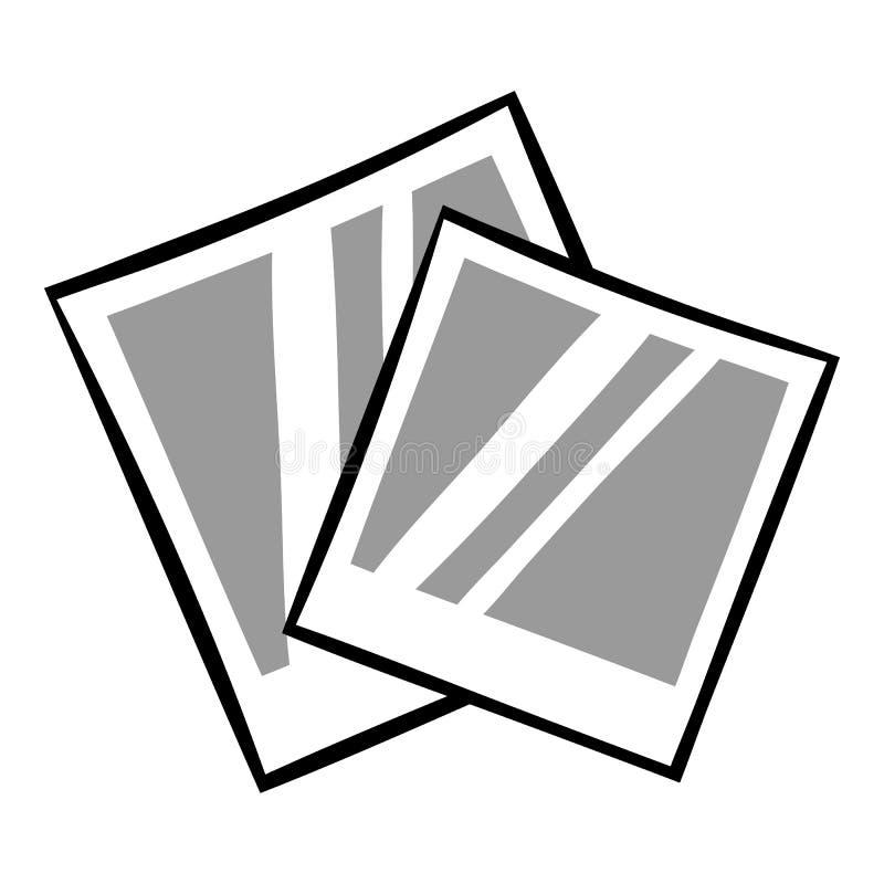 减速火箭的照片框架偏正片象动画片 库存例证