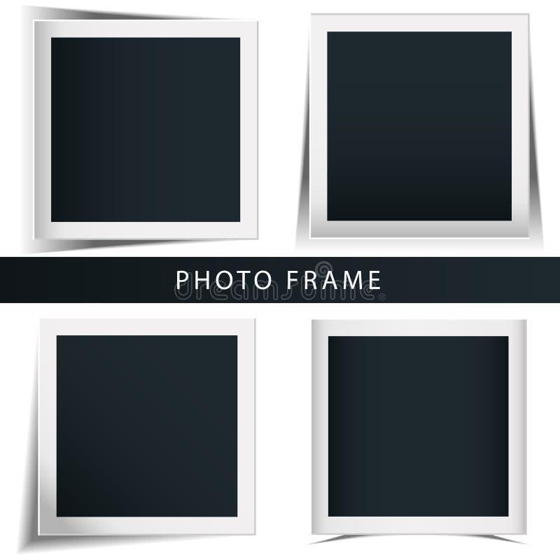 减速火箭的照片框架的自转的概念的汇集隔绝了白色背景 向量例证