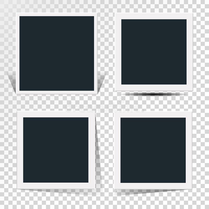 减速火箭的照片框架的自转的概念的汇集 皇族释放例证