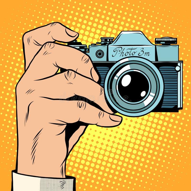 减速火箭的照相机快照selfie 库存例证