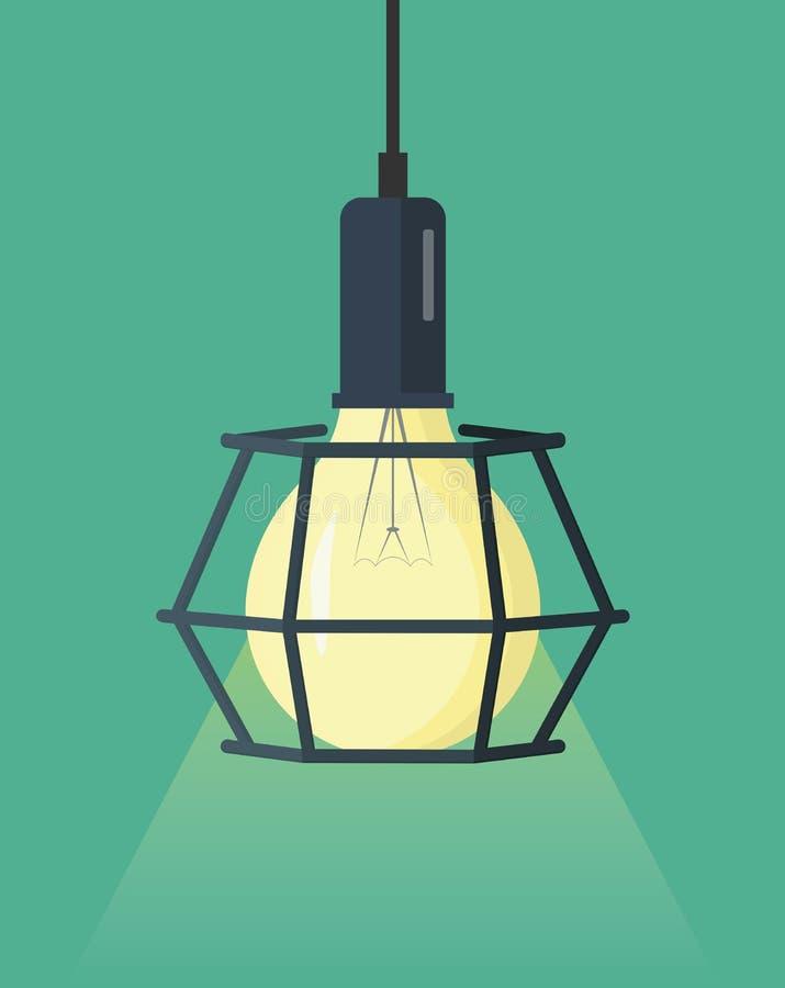 减速火箭的爱迪生电灯泡 皇族释放例证