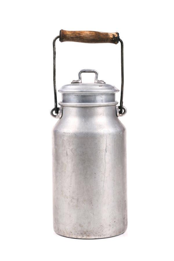 减速火箭的牛奶罐头 库存图片
