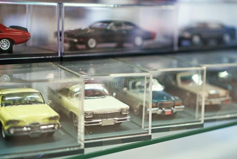 减速火箭的玩具汽车模型的汇集 库存照片