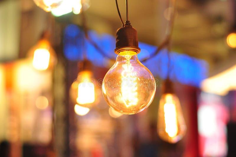 减速火箭的电灯泡装饰 库存照片