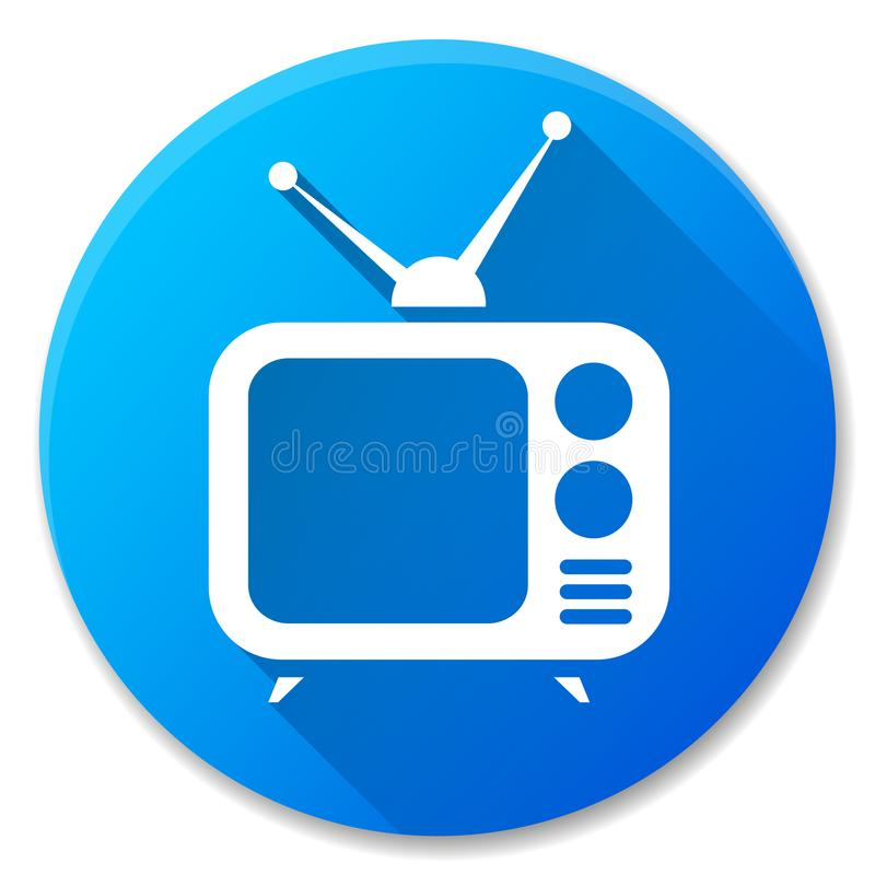 减速火箭的电视蓝色圈子象 向量例证