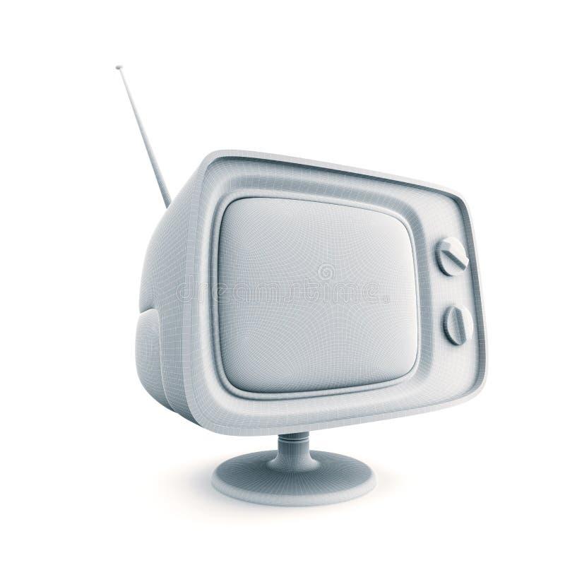 减速火箭的电视 概要看法 皇族释放例证