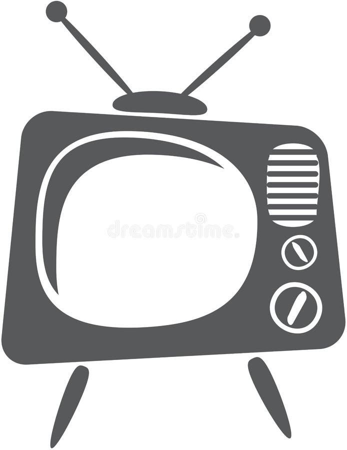 减速火箭的电视 皇族释放例证