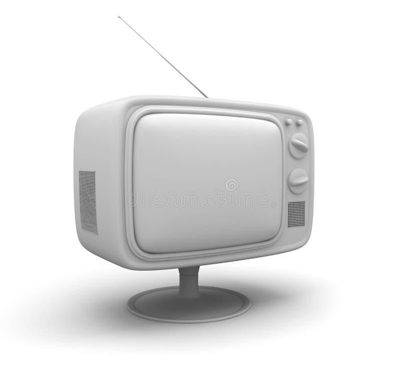 减速火箭的电视 免版税图库摄影