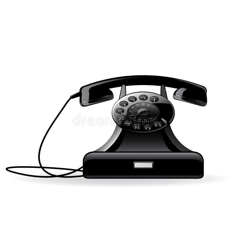 减速火箭的电话向量 向量例证