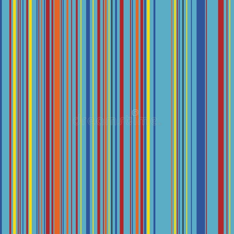 减速火箭的直接颜色垂直的易变的宽度条纹 皇族释放例证