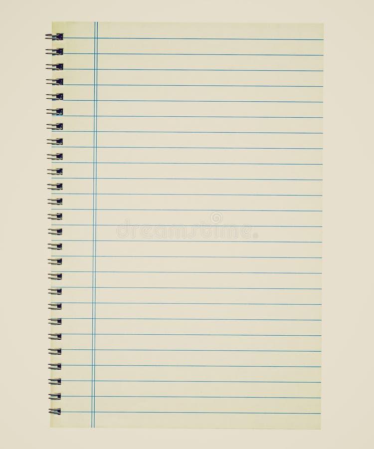 减速火箭的神色空白笔记本页 免版税图库摄影