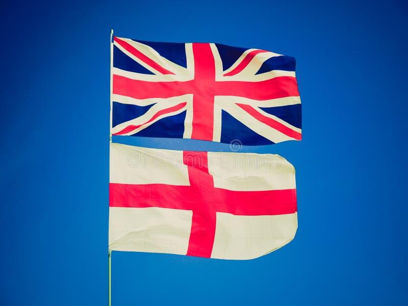 减速火箭的神色英国旗子 向量例证