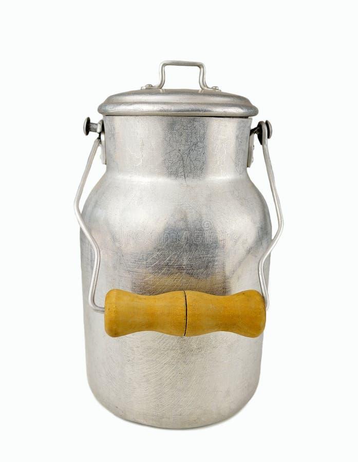 减速火箭的罐装牛奶 库存照片