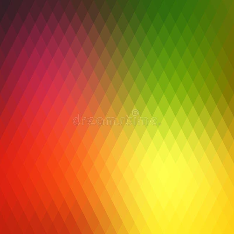 减速火箭的背景,样式rhombs,转折明亮的颜色,传染媒介背景 几何形状传染媒介背景  库存例证