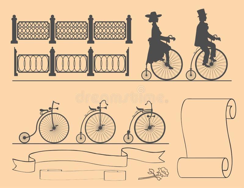 减速火箭的自行车的设计师 皇族释放例证