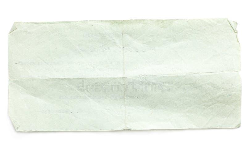 减速火箭的被剥去的老纸张 库存照片
