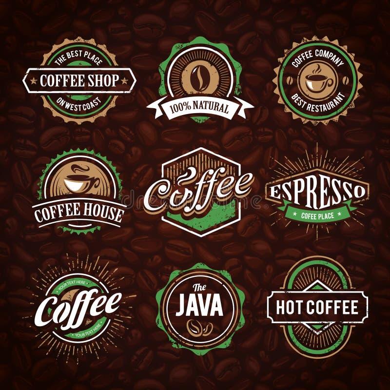 减速火箭的被称呼的咖啡象征 皇族释放例证