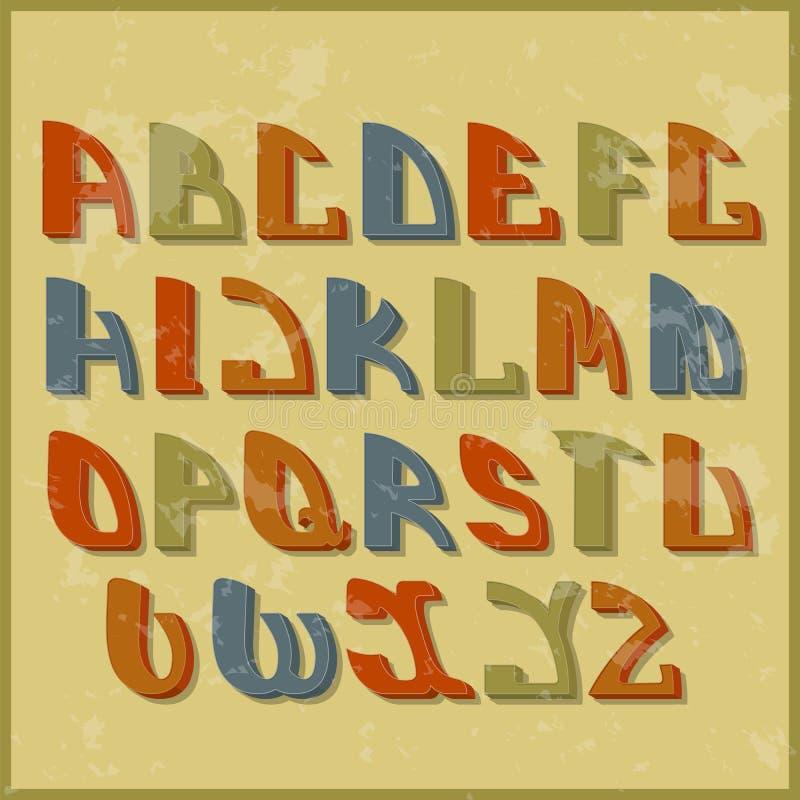 减速火箭的被称呼的字体 背景设计要素空白四的雪花 库存例证