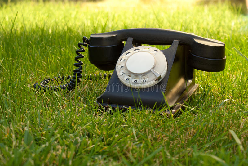 减速火箭的转台式被称呼的电话 图库摄影