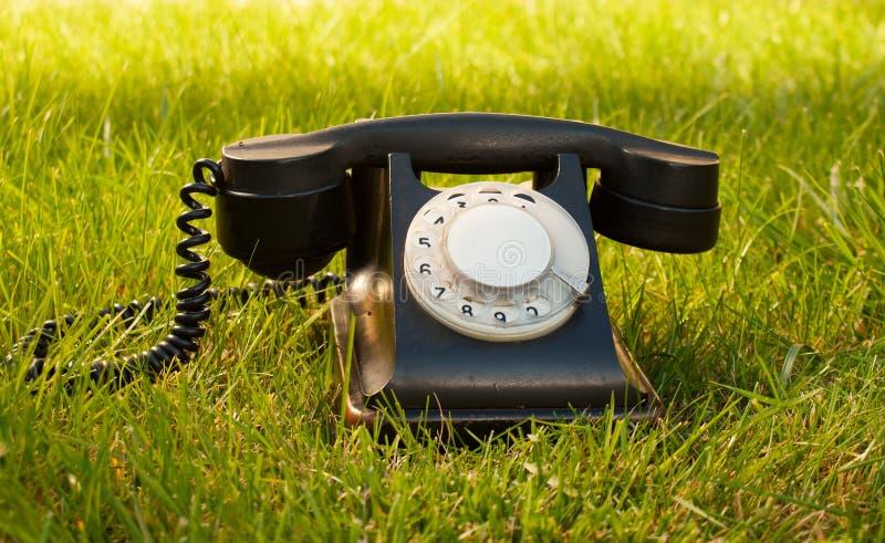 减速火箭的转台式被称呼的电话 库存照片