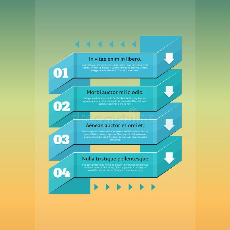 减速火箭的选择企业步origami样式横幅。infographics。 向量例证