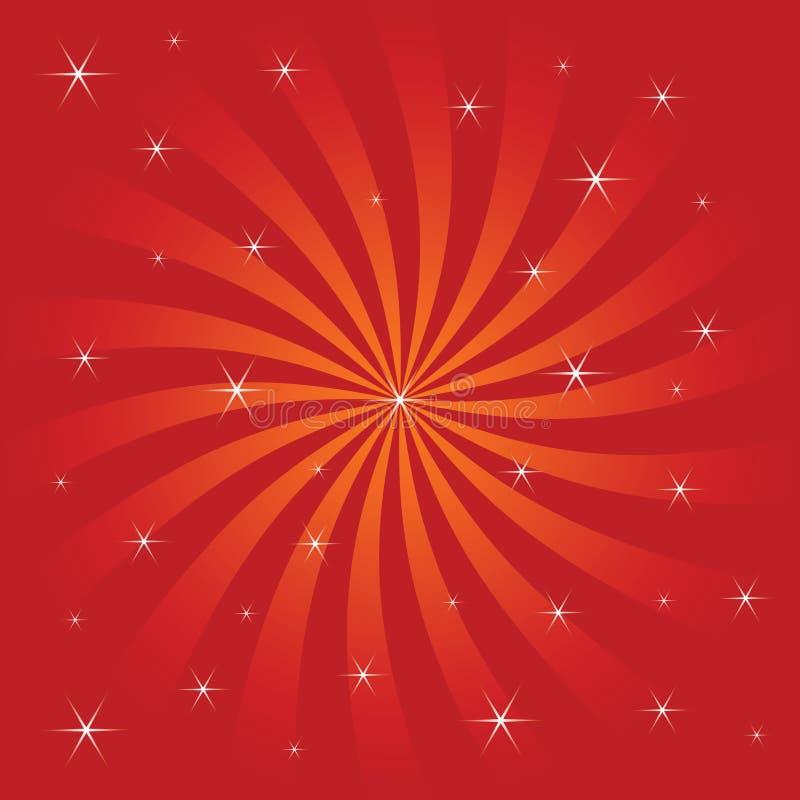 减速火箭的镶有钻石的旭日形首饰的向量 向量例证