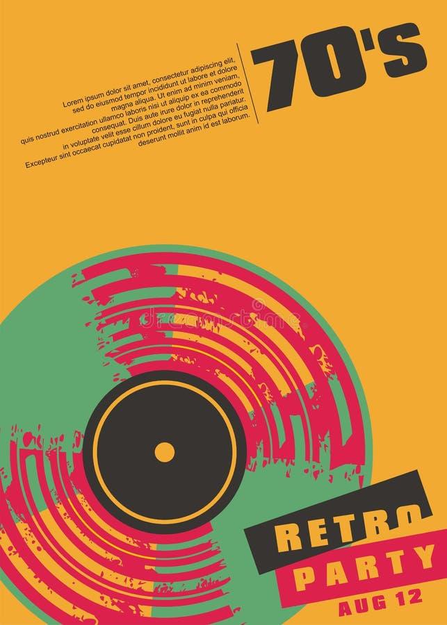 减速火箭的音乐党概念性海报设计 皇族释放例证