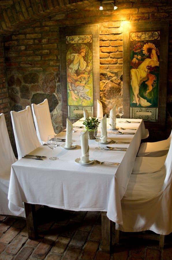 减速火箭的餐馆 免版税库存照片