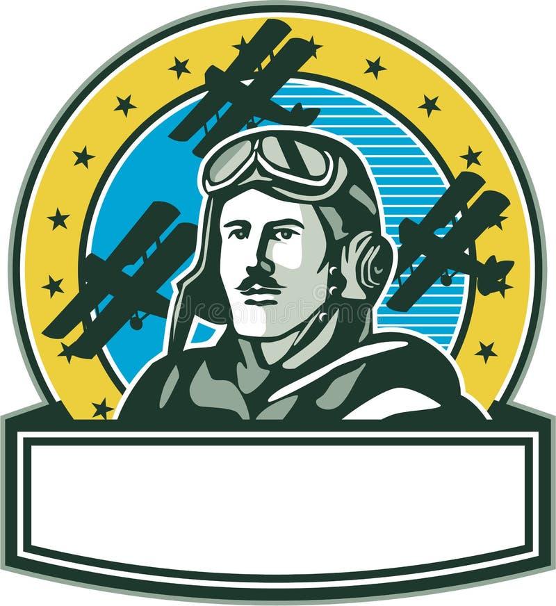 减速火箭第一次世界大战试验空军Spad双翼飞机的圈子 皇族释放例证