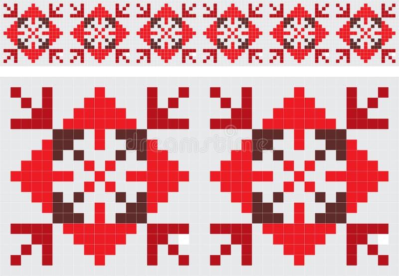 减速火箭织品的装饰品 皇族释放例证