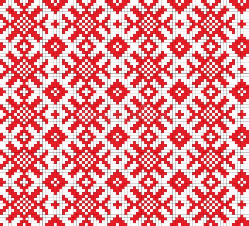 减速火箭织品的装饰品 向量例证