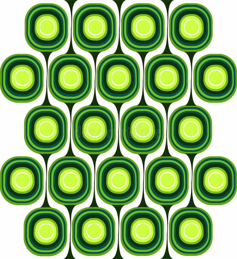 减速火箭绿色的模式 库存例证