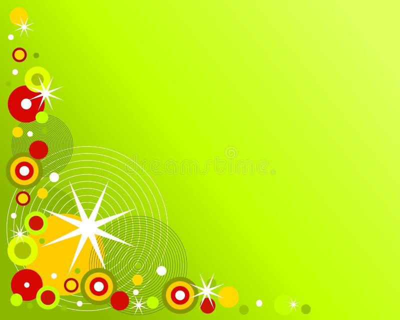 减速火箭背景的圣诞节 向量例证