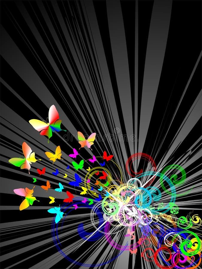减速火箭背景的colorfull 向量例证