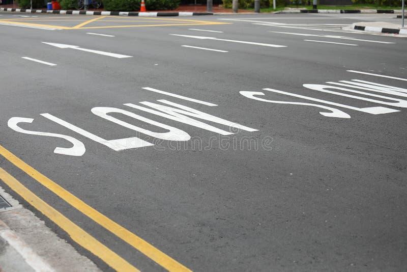 减速路标 库存图片